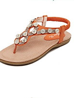 Women's Shoes Low Heel Round Toe Sandals Casual Black/Brown/White/Orange