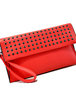 Women's Casual Rivet PU Leather Day Clutches