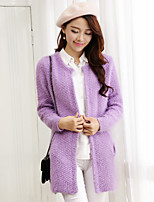 Women's Casual Medium Long Sleeve Cardigan (Knitwear/Wool Blends)(More Colors)