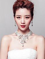 Gorgeous Rhinestones/Imitation Pearls Titanium Jewerly Sets with Earrings