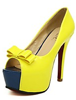 Women's Shoes Stiletto Heel Peep Toe Sandals Casual Black/Yellow