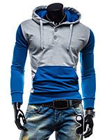Sets Activewear Uomo Casual/Taglie forti Tinta unita Manica lunga Cotone