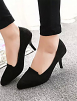 Women's Shoes Stiletto Heel Pointed Toe Pumps/Heels Dress Black/Red