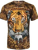 Herren Freizeit/Sport T-Shirt  -  Druck Kurz Baumwolle