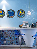 Set of 3 3D DIY Sea World Wall Stickers Art Decals