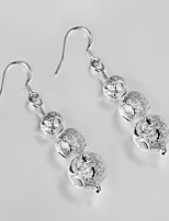 S925 Silver Drop Earring Design for Women Bead Design Earring