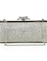 Handbag Silk/Metal Evening Handbags/Clutches/Mini-Bags/Wallets & Accessories With Crystal/ Rhinestone/Metal