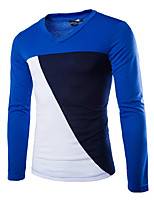 Men's Long Sleeve T-Shirt , Cotton Casual/Plus Sizes Pure