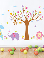 Wall Stickers Wall Decals Style Animal Cartoon Tree PVC Wall Stickers