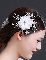 Bergkristal/Kristallen/Messing/Imitatie Parel/Chiffon Vrouwen Helm Bruiloft/Speciale gelegenheden Bloemen Bruiloft/Speciale gelegenheden1