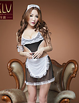 SKLV Women's Lace/Organza Maid Uniforms Ultra Sexy/Suits Nightwear/Lingerie