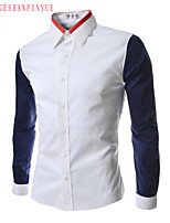 2015 Casual Quality Cotton Fashion Men's Long Sleeve Shirt