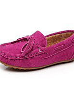 Girls' Shoes Outdoor/Dress/Casual Mary Jane/Comfort/Round Toe Leather Boat Shoes Yellow/Green/Pink