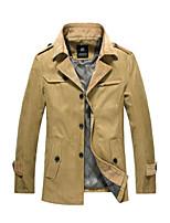 Men's Casual Slim Fit British Style Wind Coat Jacket
