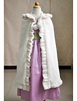 Kids Wraps Capes/Hats Sleeveless Faux Fur Ivory