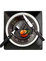 Modern/Contemporary Houses 3D Wall Clock Tableware Indoor Clock