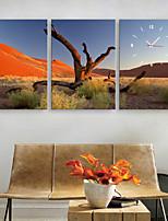 E-HOME® Desert Clock in Canvas 3pcs