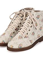 Scarpe Donna Tessuto Piatto Punta arrotondata/Chiusa Sneakers alla moda Tempo libero/Casual Rosa/Beige