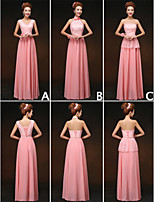 Mix & Match Dresses Floor-length Chiffon and Lace 3 Styles Bridesmaid Dresses (3789858)