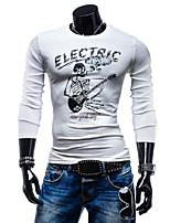 Katoen - Print - Heren - T-shirt - Informeel/Formeel - Lange mouw