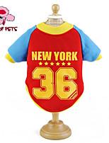 Manteaux/T-shirt - Chiens/Chats - Mariage/Cosplay - Rouge/Bleu/Incanardin/Jaune - en Coton -