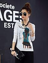 Ronde hals - Katoen Vrouwen - T-shirt - Lange mouw