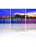 VISUAL STAR®City Night Canvas Art Printing Set of 3 Canvas Ready To Hang
