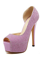 Women's Shoes Synthetic Stiletto Heel Peep Toe Pumps Dress More Colors available
