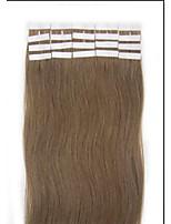 18 inch lange kleur 12 lichtbruin tape in premium remy human hair extensions straight vrouwen schoonheidssalon style design