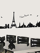 Wall Stickers Wall Decals, Mini Black Eiffel Tower PVC Wall Sticker