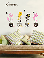 Wall Sticker Wall Decals, Artistic Flowers Pots PVC Wall Stickers