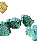 4pcs pastel patrón de frutas y cortador de galletas molde