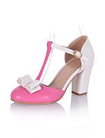 Women's Shoes  Stiletto Heel Heels/Round Toe Pumps/Heels Office & Career/Dress Pink/Red/White