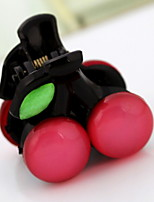 Women Vintage Cute Candy Color Small Cherry Hair Jaw Clip