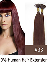 16 inch Keratin Stick Tip/ I Tip 0.5g/s Malaysian Human Hair Extensions 14 Colors for Women Beauty
