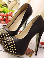Women's Shoes Stiletto Heel Heels/Platform Pumps/Heels Casual Black