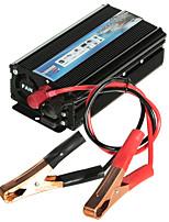 hot-a1-00022 1000w autó jármű usb dc 12v ac 110v inverter adapter átalakító - fekete