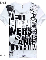 2015 summer new men's T-shirt Metrosexual cotton shirt T-shirt printing fashion tide