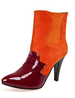 Women's Boots Spring / Fall / Winter Fashion Boots Leatherette Office & Career / Casual Stiletto Heel OthersBlack / Red