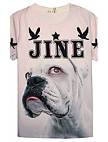 Women's High Quality Personality Generous Summer Breathable 3D Style T-shirt——Pink Dog