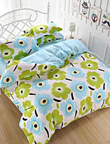 Green Floral Bedding Set of 4pcs Queen/Twin Set Of 4pcs