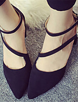 Women's Shoes  Chunky Heel Pointed Toe Pumps/Heels Dress Black/Gray