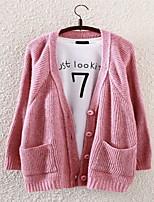 Fashion Women's Casual/Work Micro-elastic Medium Long Sleeve Cardigan (Knitwear/Cotton Blends)