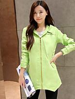 Women's Casual/Work Medium Long Sleeve Long Trench Coat