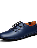 Men's Shoes Outdoor / Casual Leather Oxfords Black / Blue / Brown