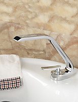 Bathroom Sink Faucet in Contemporary Style single Handle One Hole Faucet