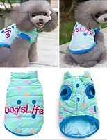 FUN OF PETS® Lovely Dog's Life Pattern Colorful Spot Cotton Vest for Pets Dogs (Assorted Sizes)