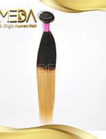 buono tempio a buon mercato indiani vergini di seta dei capelli umani estensioni dei capelli dritti ombre 2 toni 1b / 27 1pcs colore soli