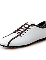 Men's Loafers & Slip-Ons Spring Summer Fall Winter Comfort Cowhide Leather Outdoor Office & Career Casual Flat Heel