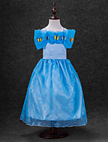 Girl's Party/Cocktail Solid DressAcrylic All Seasons Blue